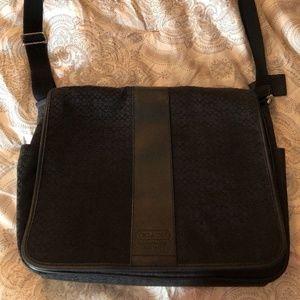 Coach Black Messenger Bag Diaper Baby Laptop